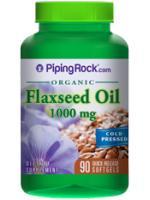 ลดคอเลสเตอรอล ป้องกันโรคหัวใจและต้านมะเร็ง (น้ำมันเมล็ดแฟลกซ์ ออร์แกนิก) 1000 mg | 90 Softgels
