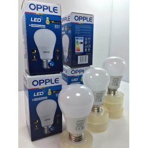 LED E1 A60 E27 7W 6000K หลอดบับ กล่องสีน้ำเงินเข้ม OPPLE
