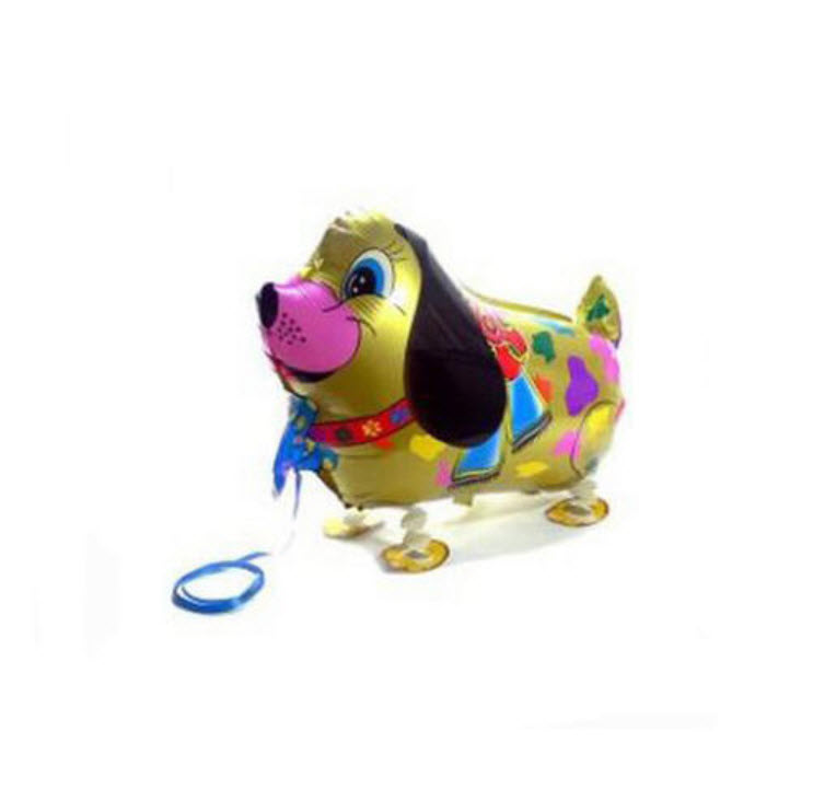 ลูกโป่งสุนัขสีทองเดินได้