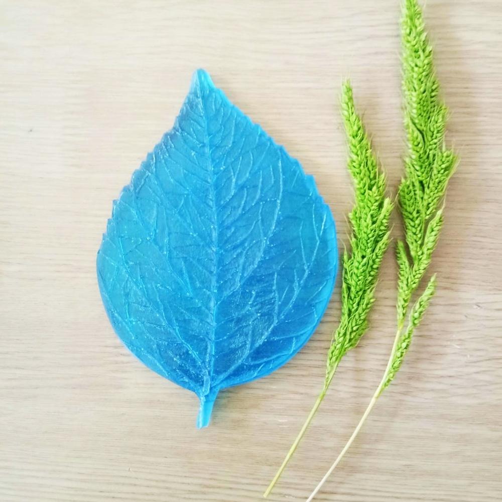 ลายเรซิ่น ใบชบา (Hibiscus leaf mold)