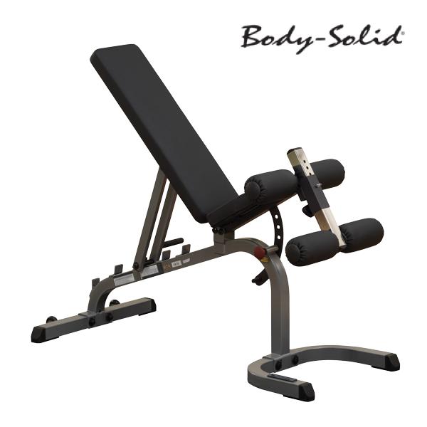 เก้าอี้เล่นดัมเบล : Body Solid Flat (Incline-Decline Bench) GFID31