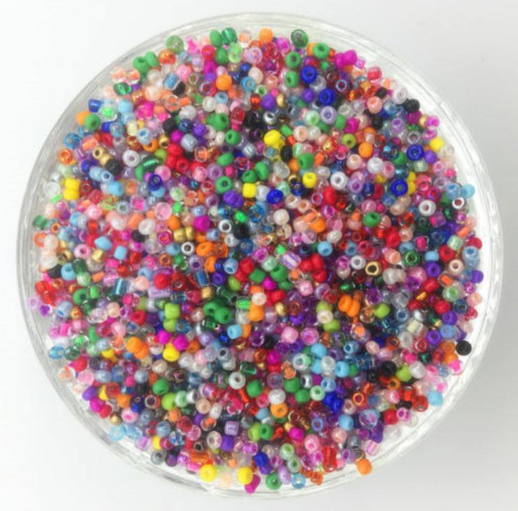 เม็ดลูกปัด 2 ม.ม. แพ็ค 1,000 เม็ด (คละสี)