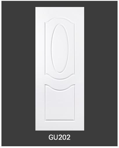 ประตู uPVC 2 ช่องโค้ง GU-002/202 70*200 สีขาว ไม่เจาะลูกบิด Green Plastwood