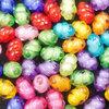 ลูกปัดอะครีลิค ทรงรูปไข่ 8 ม.ม. คละสี / 50 เม็ด