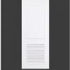 ประตู uPVC 2 ช่องตรงเกล็ด GL-004/204 80*200 สีขาว เจาะลูกบิด Green Plastwood