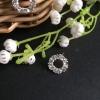 Diamonds circles earrings
