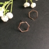 Medium hexagon earrings