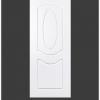 ประตู uPVC 2 ช่องโค้ง GU-002/202 70*200 สีขาว เจาะลูกบิด Green Plastwood