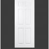 ประตู uPVC 6 ช่องตรง GU-003/203 70*200 สีขาว ไม่เจาะลูกบิด Green Plastwood