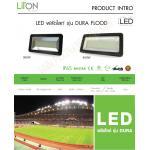 โคมฟลัดไลท์ LED 300W DL lumi FLSMD01-300-BK-DL