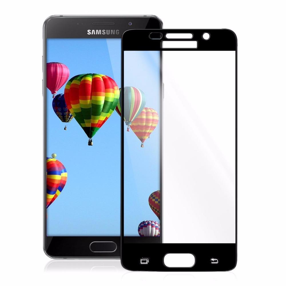 P-one ฟิล์มกระจก Samsung Galaxy A9 Pro / A9 เต็มจอ (สีดำ)