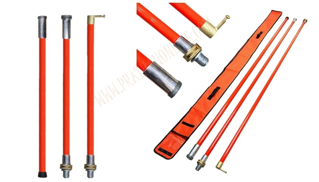 ไม้ชักฟิวส์ไฟฟ้า 3 ท่อน HDS-24-3 3ท่อนx8ฟุต=24ฟุต