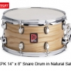 กลองสแนร์Premier XPK ASH SATIN 14X8/NATURAL/BLACK