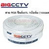 สายนำสัญญาณ RG6 (100M) สีขาว BIGCCTV