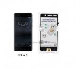 P-one ฟิล์มกระจกเต็มจอ Nokia 5 สีดำ